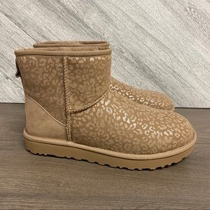 UGG   Mini Snow Leopard Boots Amphora New In Box
